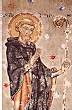 Saint Colomban. Peinture murale sur la face Nord du transept.
