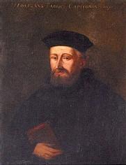 Portrait de Wolfgang Capiton, réformateur strasbourgeois et premier pasteur de Saint-Pierre-Le-Jeune