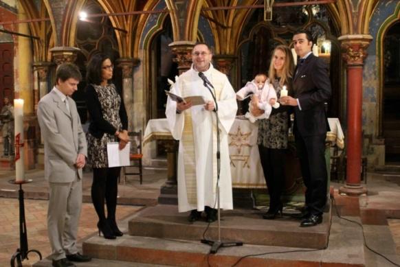 Baptême de Clémence Zerbib à Saint-Pierre-le-Jeune