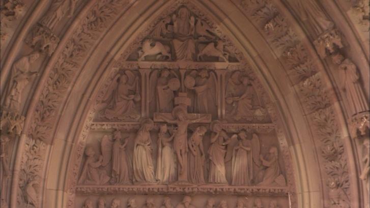 Crucifixion entre la Vierge et St Jean