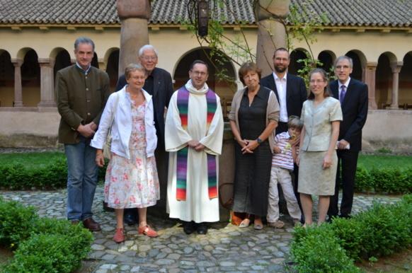 Pasteur Philippe Eber et quelques membres du Conseil Presbytérial