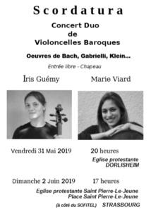 Concert du 02 juin à 17h : Duo de violoncelles
