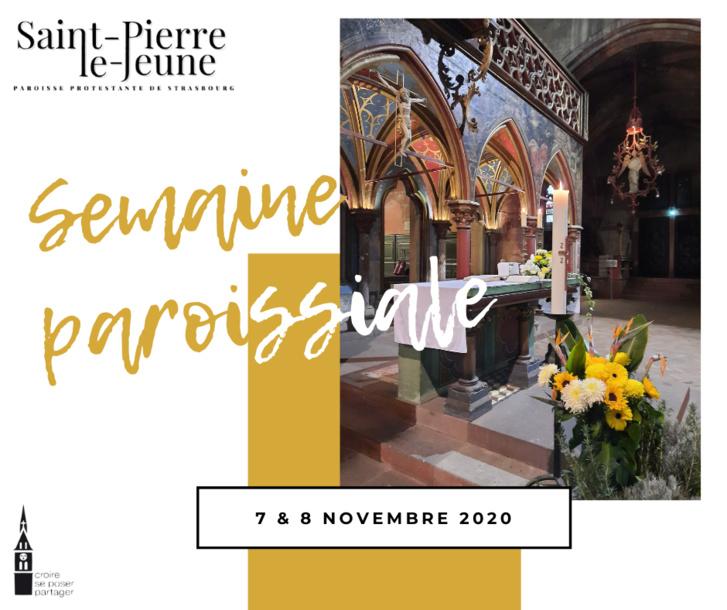 Semaine paroissiale - 7 novembre 2020