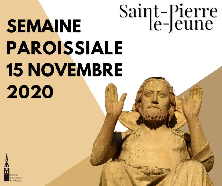 Semaine paroissiale - 15 novembre 2020