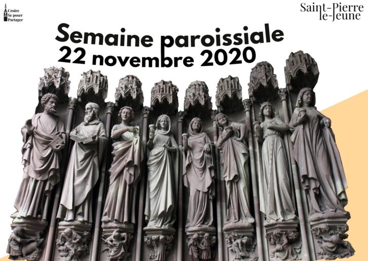 Semaine paroissiale - 22 novembre 2020