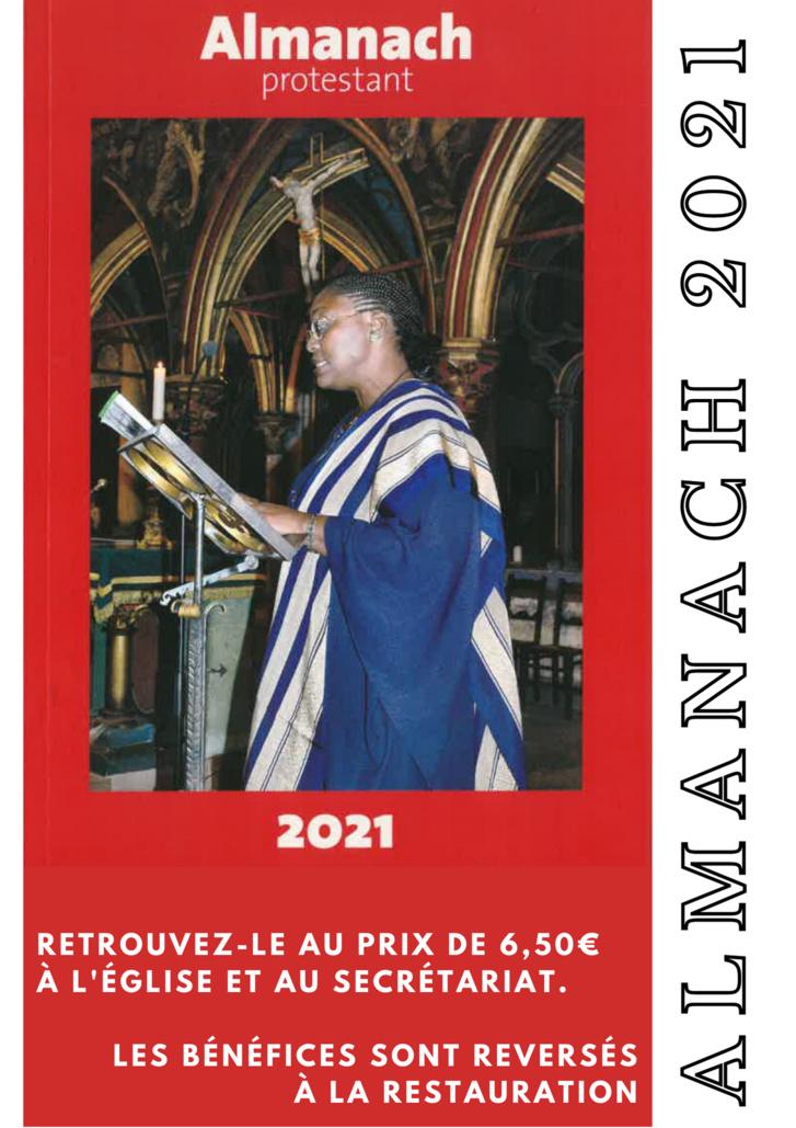 L'Almanach protestant et le calendrier de Saint Pierre le Jeune 2021
