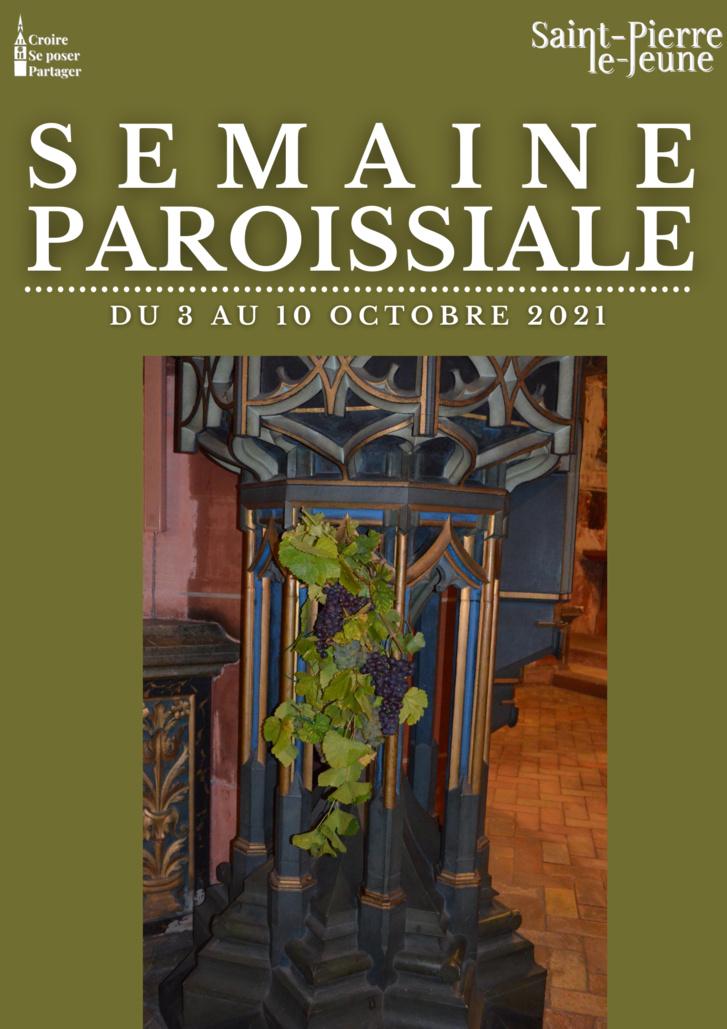 Semaine paroissiale - 3 octobre 2021