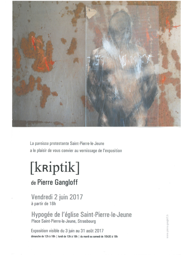 Exposition : [kRiptik] de Pierre Gangloff