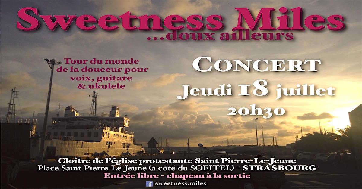 Concert du 18 juillet à 20h30 : Sweetness Miles