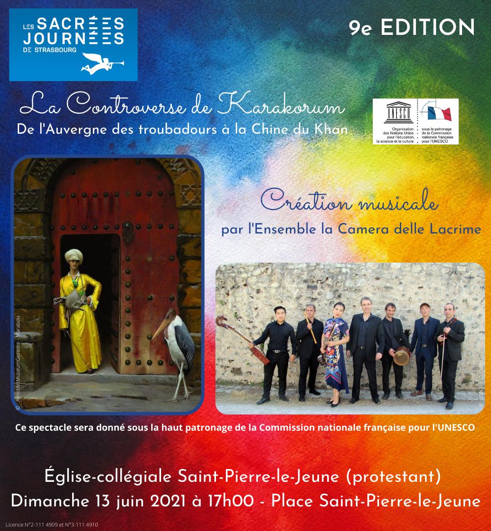 Concert des Sacrées journées à Saint-Pierre-le-Jeune - Dimanche 13 juin 2021