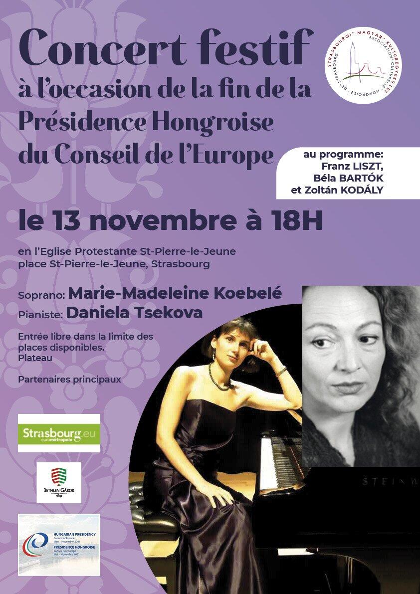 Concert festif à l'occasion de la fin de la Présidence Hongroise du Conseil d'Europe