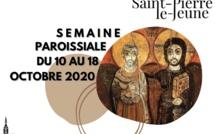 Semaine paroissiale - 10 octobre 2020