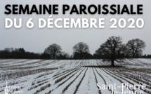 Semaine paroissiale - 6 décembre 2020