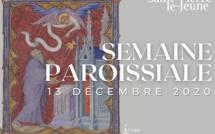 Semaine paroissiale - 13 décembre 2020