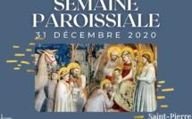Semaine paroissiale - 31 décembre 2020